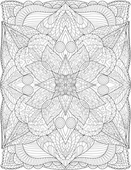 Un beau grand dessin de motif de fleurs à croissance lente entouré de feuilles délicieusement. jolie plante à fleurs dessin au trait ringe progressivement avec de grands pétales magnifiquement.