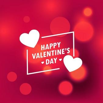Beau jour de valentines heureux fond avec effet bokeh