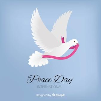 Beau jour de paix fond avec pigeon