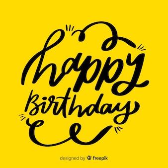 Beau lettrage joyeux anniversaire