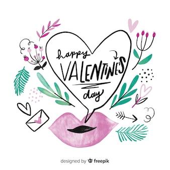 Beau lettrage de saint valentin