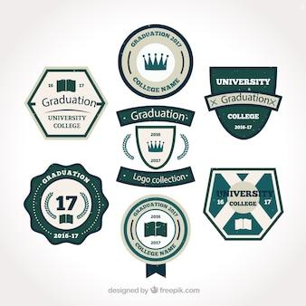 Beau logos de collège en style vintage