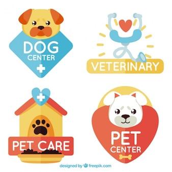 Beau logos pour les soins des animaux