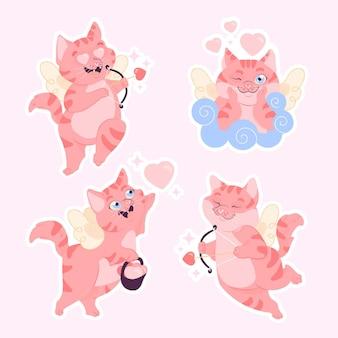 Beau et mignon chat cupidon