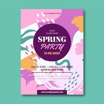 Beau modèle d'affiche de fête de printemps abstrait