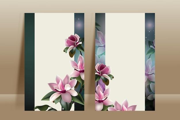 Beau modèle de carte de fleur de printemps