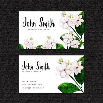 Beau modèle de carte de visite florale aquarelle