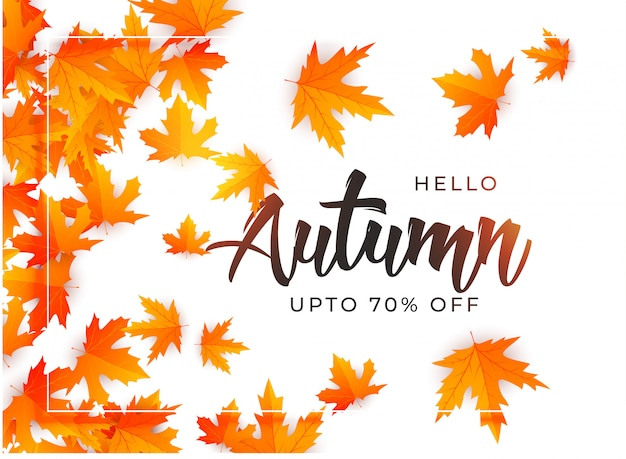 Beau modèle de fond de feuilles d'automne