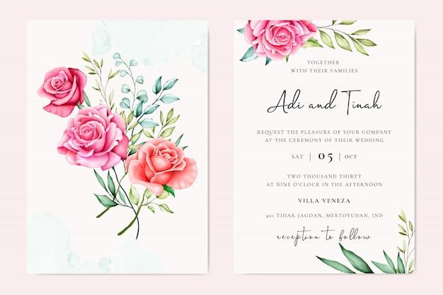 Beau modèle d'invitation de mariage
