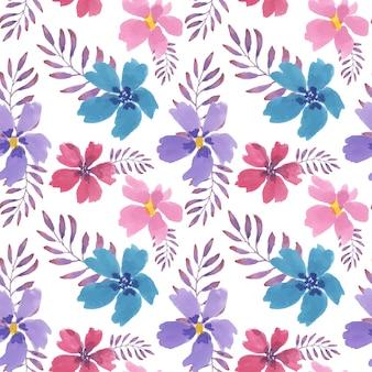 Beau modèle sans couture aquarelle floral coloré