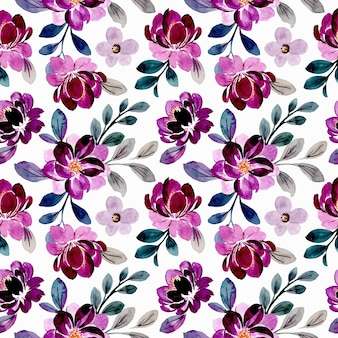 Beau modèle sans couture aquarelle floral violet