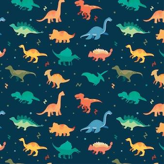 Beau modèle sans couture de dinosaures