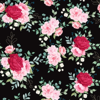 Beau modèle sans couture floraison floral