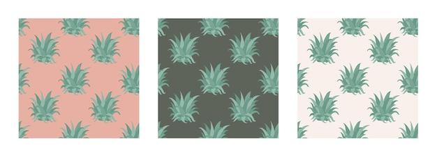Beau modèle tropical vectorielle continue avec des feuilles d'ananas