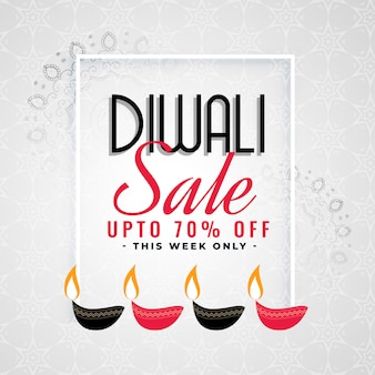 Beau modèle de vente pour le festival de diwali