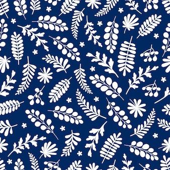 Beau motif en fleur abstraite et feuilles. petites fleurs printanières simples et mignonnes.