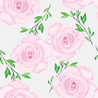 Beau motif floral avec aquarelle