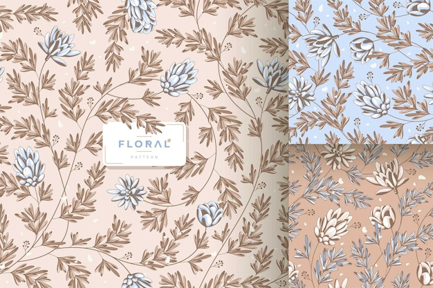 Beau motif floral chic minable