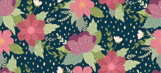 Beau motif floral avec une fleur. floral fond sans couture pour les impressions de mode.