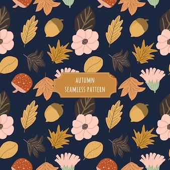 Beau motif floral sans couture automne