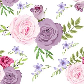 Beau motif floral sans soudure