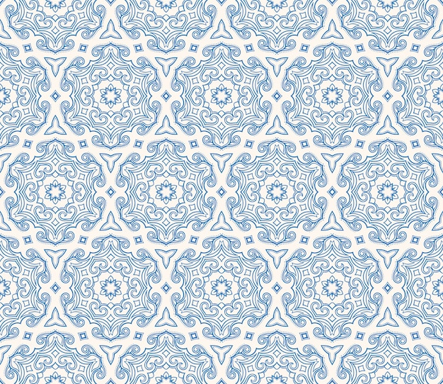 Beau motif hexagonal bleu