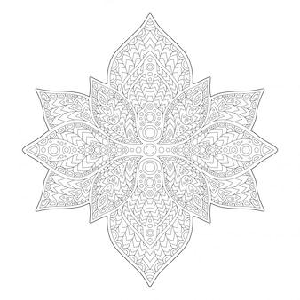Beau motif monochrome floral sur fond blanc