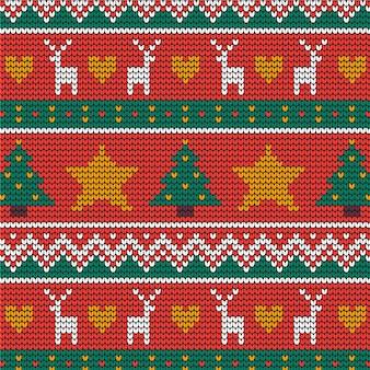Beau motif de noël tricoté