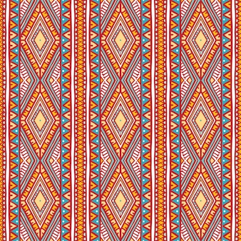 Beau motif à rayures verticales tribales avec des points et des triangles