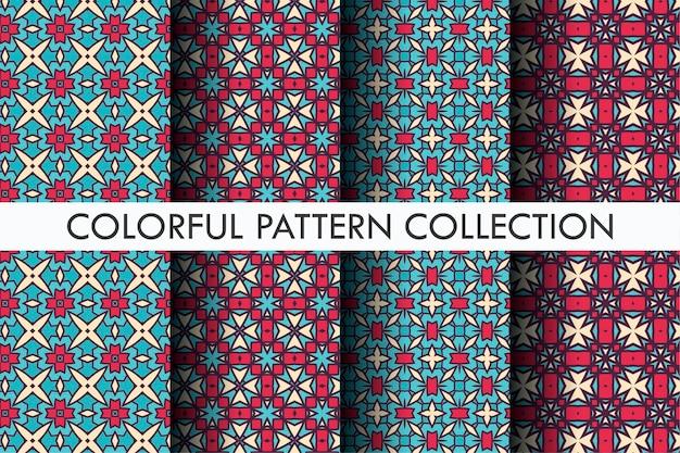 Beau motif serti de style décoratif