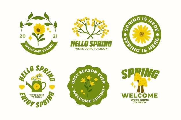 Beau pack de badges de printemps