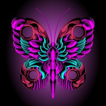 Beau papillon de fer
