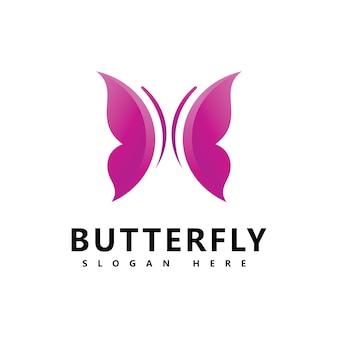 Beau papillon marque logo icône vecteur