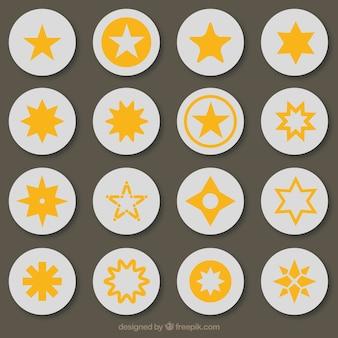 Beau paquet de stars avec des conceptions différentes