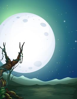 Un beau paysage la nuit
