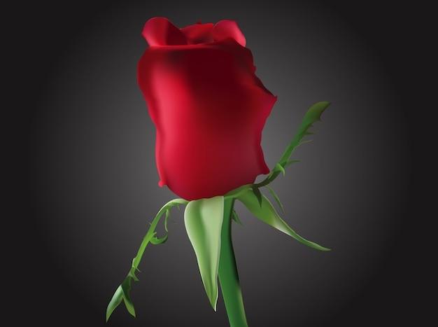 Beau vecteur de fleur rose romantique