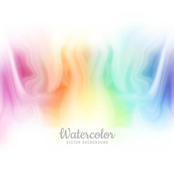Beau vecteur de fond aquarelle coloré