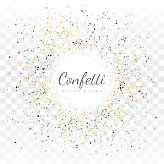 Beau vecteur de fond de confettis
