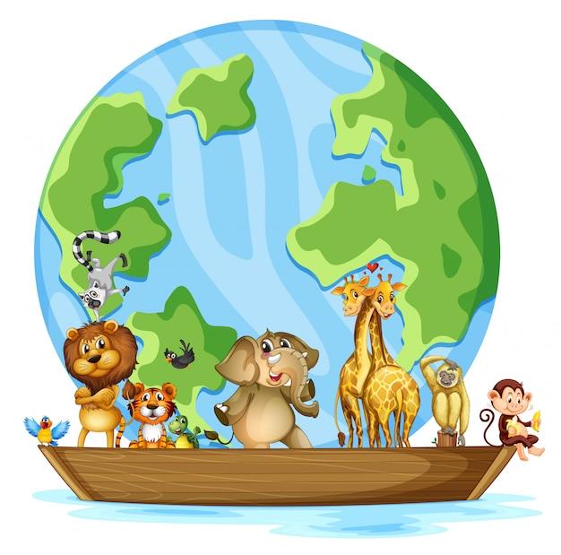 Beaucoup d'animaux autour du monde