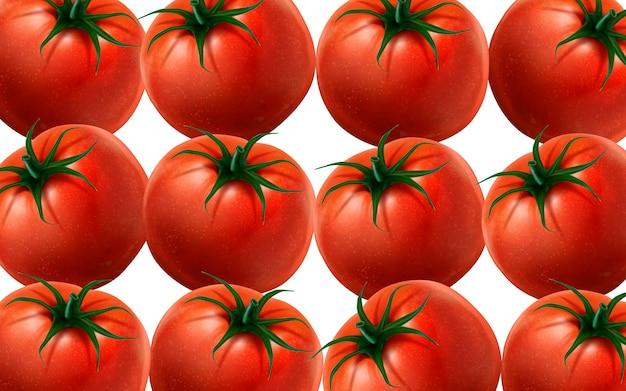 Beaucoup de tomates illustration fond blanc illustration 3d