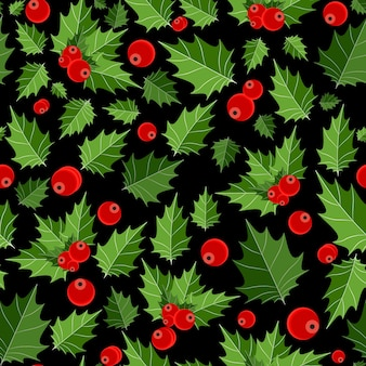Beauté abstraite baies de noël sans soudure de fond. illustration vectorielle. eps10
