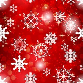 Beauté abstraite noël et nouvel an avec neige et flocons de neige.