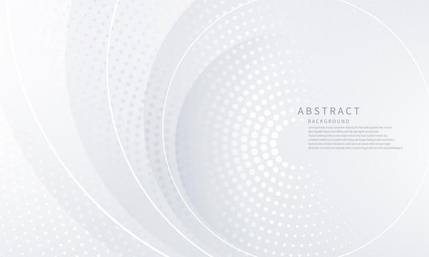 Beauté de l'affiche abstrait fond blanc avec dynamique. réseau technologique illustration vectorielle.