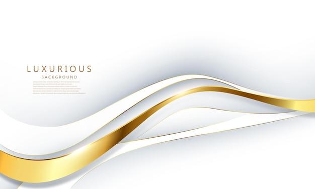 Beauté d'affiche abstrait fond or blanc avec dynamique. réseau technologique