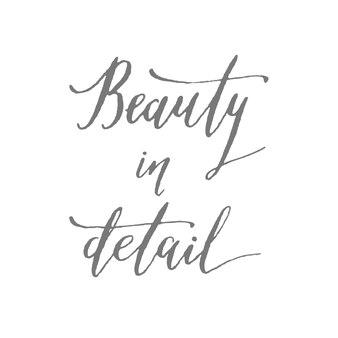La beauté en détail