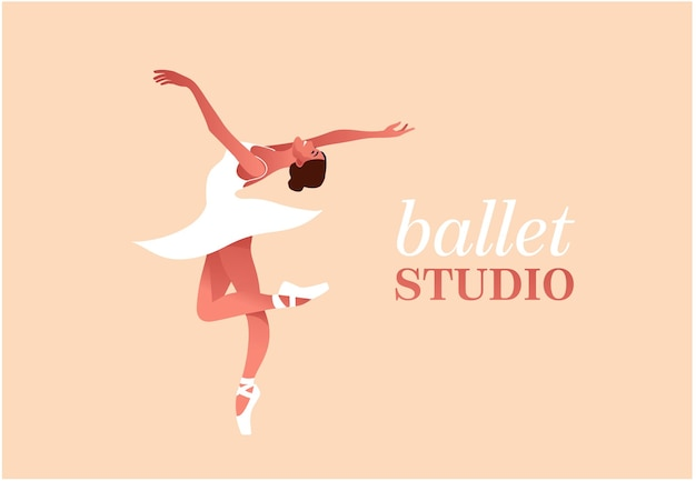 Beauté Du Plat De Ballet Classique Vecteur Premium