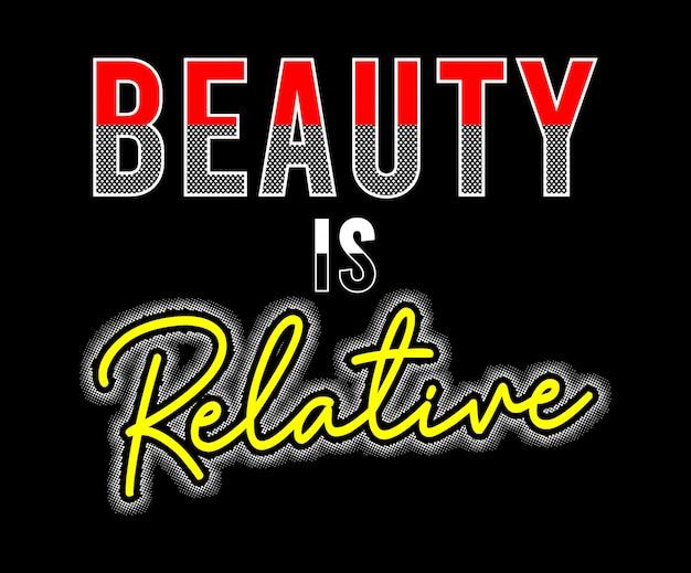 La beauté est une fille de typographie relative