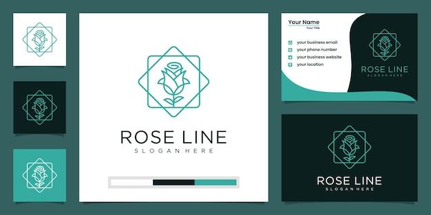 Beauté de luxe minimaliste élégante fleur, mode, soins de la peau, cosmétique avec carte de visite.