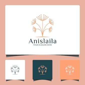 Beauté pissenlit logo design salon spa élégance à base de plantes cosmétique mode etc.