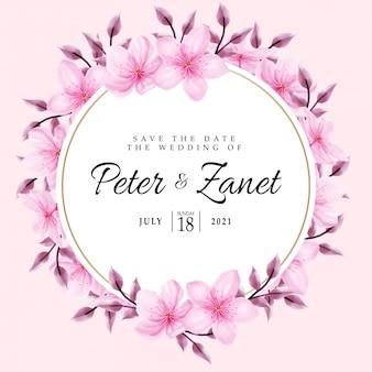Beauté rose aquarelle mariage événement invitation cadre fleur floral modifiable modèle